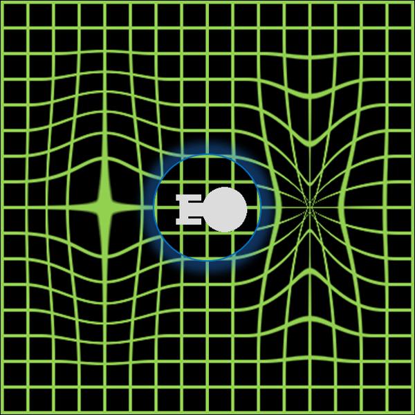 Conceptualización del campo de curvatura (warp field).
