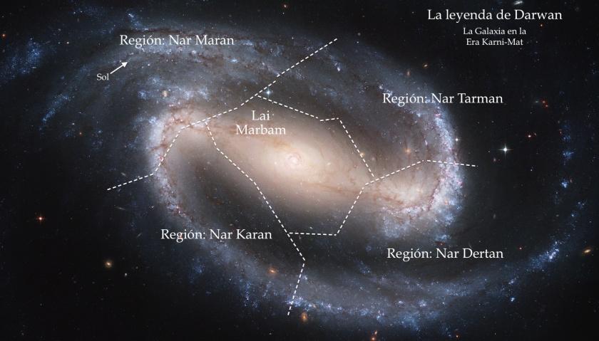 Mapa general de la Galaxia en la Era Karni-Mat.
