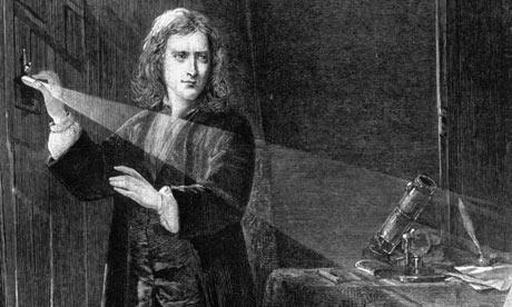 Sir Isaac Newton, padre de la física moderna.