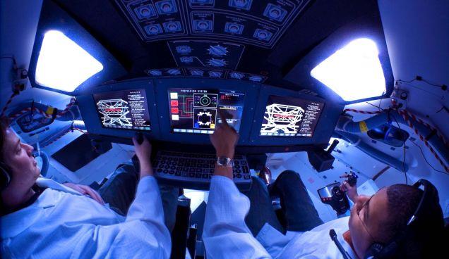 Interior del módulo de mando