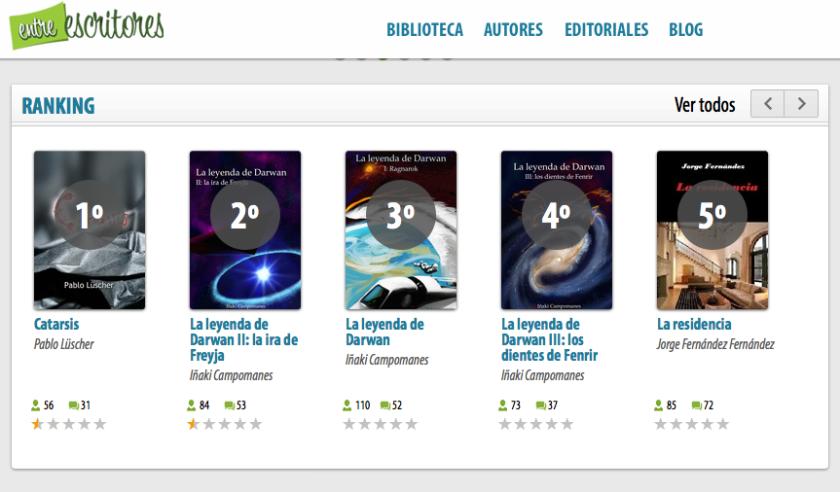 Los tres libros en el ranking