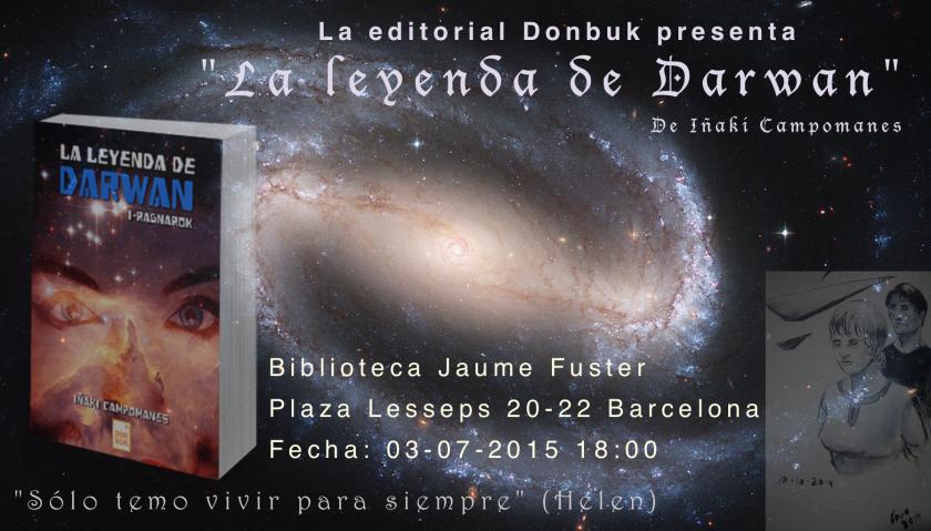 Presentación La leyenda de Darwan en Barcelona