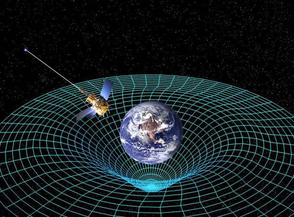 La Tierra curva el espacio-tiempo a su alrededor