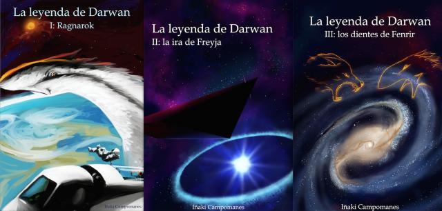 """Portadas de """"La leyenda de Darwan"""""""