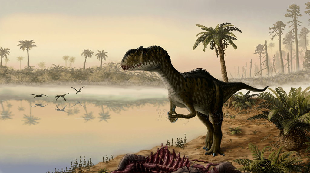 dawn_of_the_jurassic_period__by_plioart-d6r2eu3