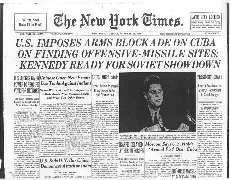 New-York-Times-on-Cuban-Missile-Crisis