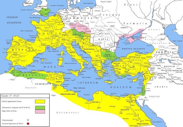 FASES DEL IMPERIO ROMANO - CLAUDIO 41- 54 dC
