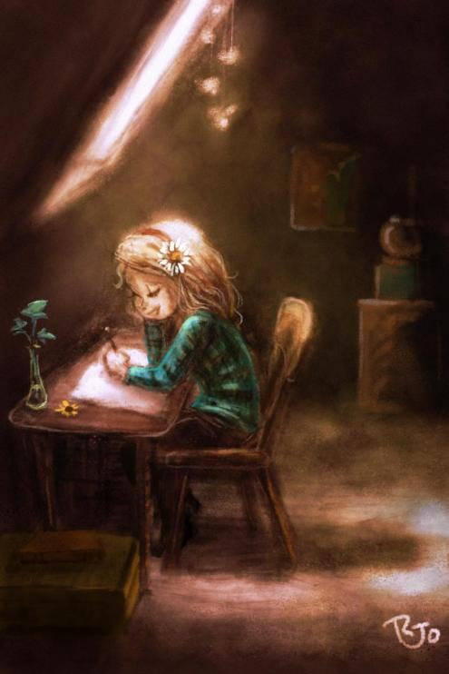 girl-writing