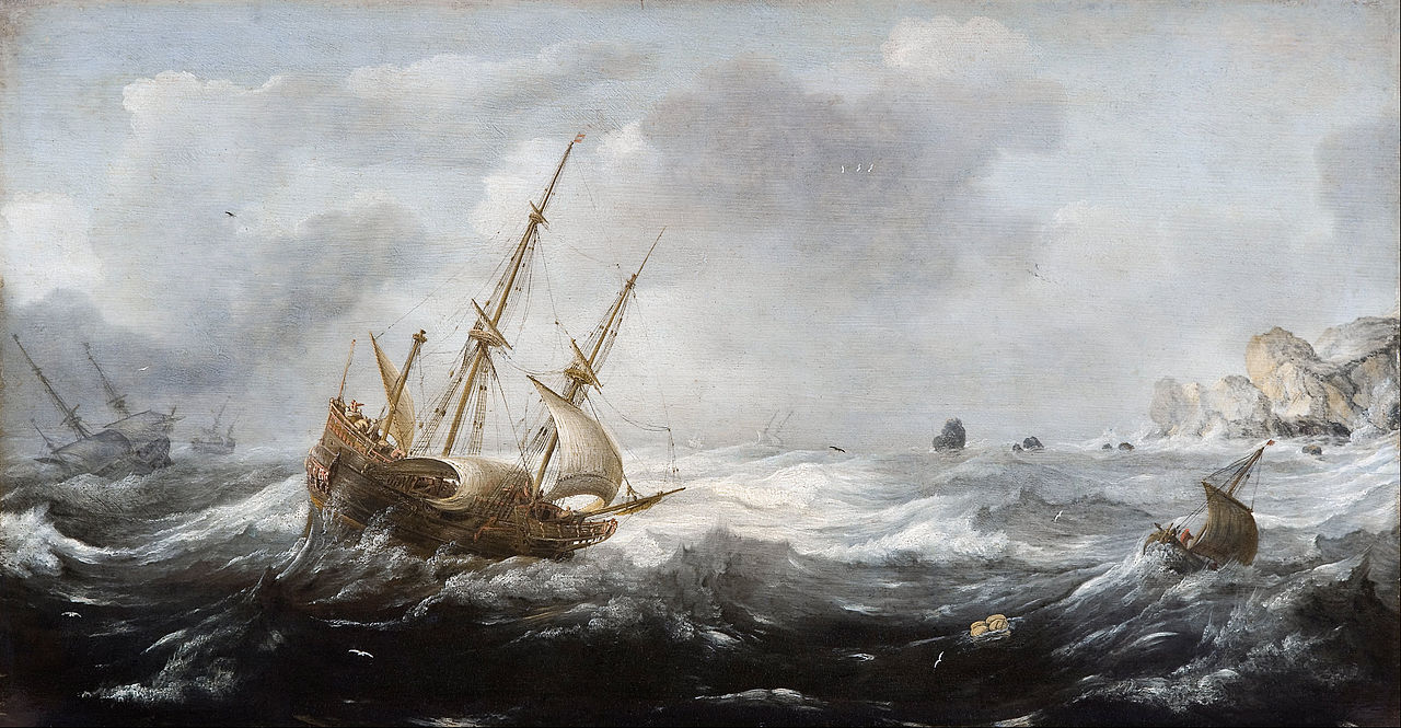 Jan_Porcellis_-_Ships_in_a_Storm_on_a_Rocky_Coast_-_Google_Art_Project